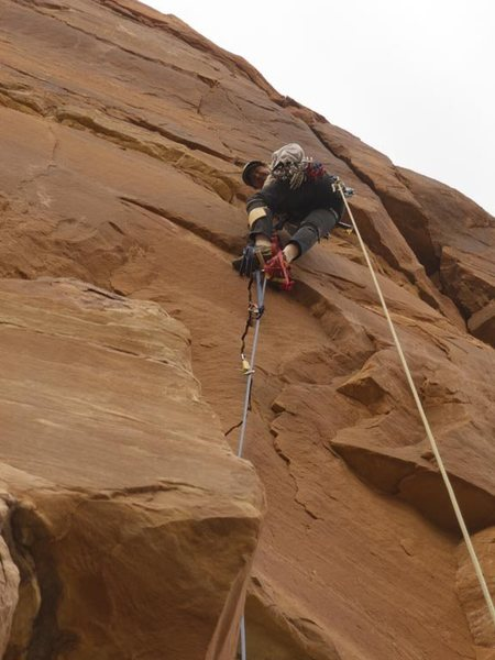 Rock Climbing Photo: Chip Wilson, last pitch of Capetown Caper