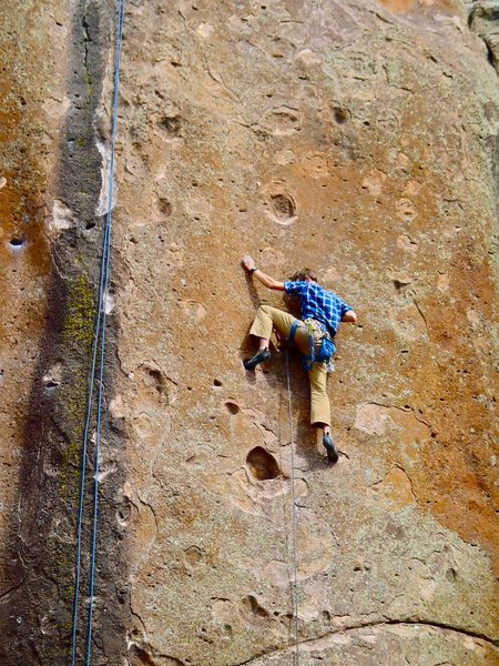 """""""No Regrets"""" in Penitente Canyon (5.11c onsight)"""