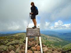 Rock Climbing Photo: Summit of Katahdin after 2179 miles, 120 days, 900...