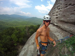 Rock Climbing Photo: Go-pro-on-a-stick on Looking Glass Rock, North Car...