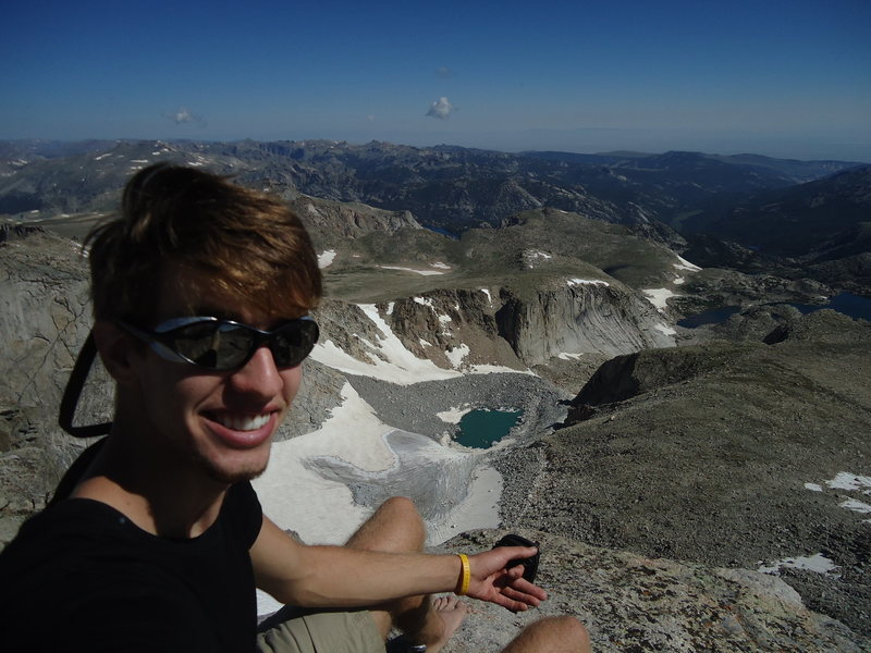 Above my first glacier in Wyoming's Wind River range
