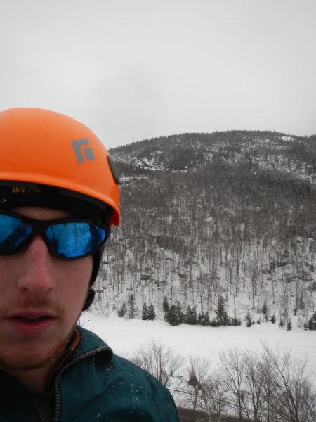 Dacks ice climbing