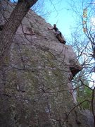 Rock Climbing Photo: Mike Sohasky leading The Blade, March 17th, 2012. ...