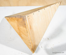 Rock Climbing Photo: Triangle volume assembled before sanding, paint, t...
