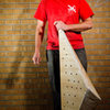 A different new volume with sweet angles and is really fun on the wall. After a vigorous sanding and paint job it looks sweet. <br> <br> http://andylibrande.com/homeclimbingwall/2012/03/build-a-triangle-wood-volume-for-your-climbing-wall/