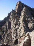 Rock Climbing Photo: afternoon sun on Redgarden Wall