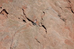 Rock Climbing Photo: Pipe Route 1st pitch.
