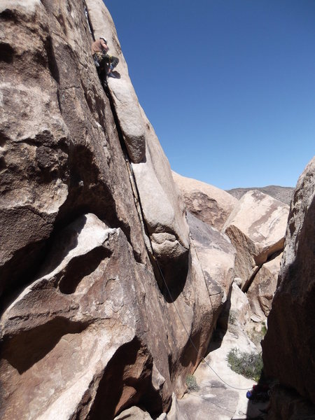 Rock Climbing Photo: The description on this climb is vague but i'm ass...