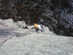 Rock Climbing Photo: Dave enjoys the line.