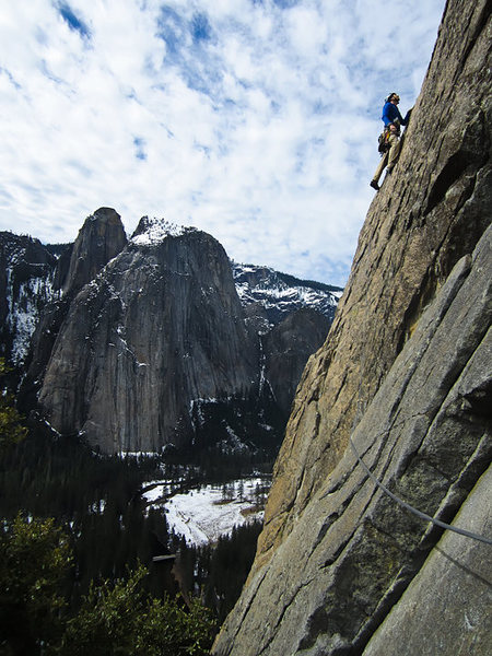 Rock Climbing Photo: Patrick on p4 of the EB of El Cap