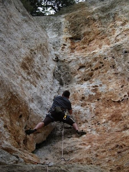 Rock Climbing Photo: John crankin' up Dreams