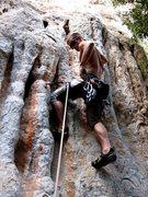 Rock Climbing Photo: The low tufa start on Enigma