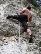 Rock Climbing Photo: Near the top of Proctolin