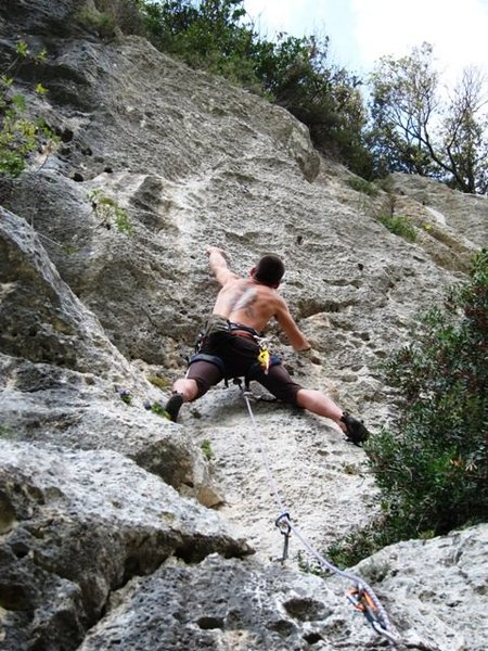 Rock Climbing Photo: John on Proctolin