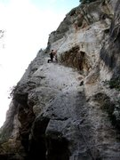 Rock Climbing Photo: Steep thin face in the middle of Le Valchirie