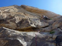 Rock Climbing Photo: Wide angle of route