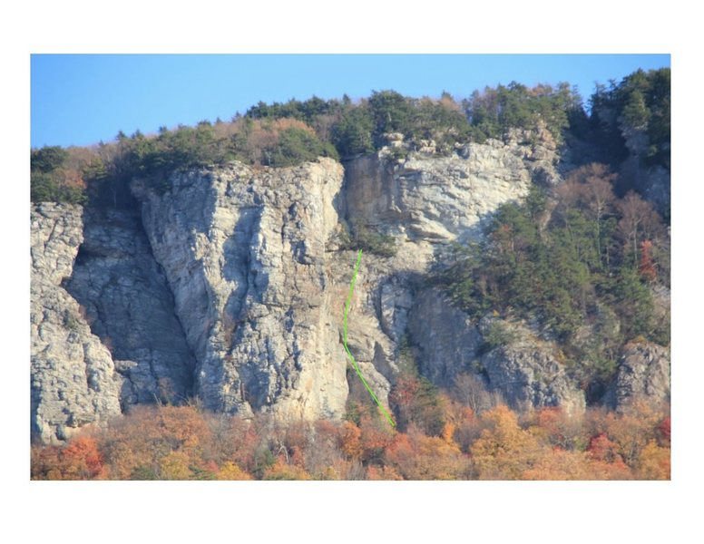Rock Climbing Photo: Same route, from a zoomed out photo.