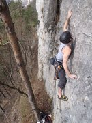 Rock Climbing Photo: 6a Tarzan start  (normally head left here, actuall...