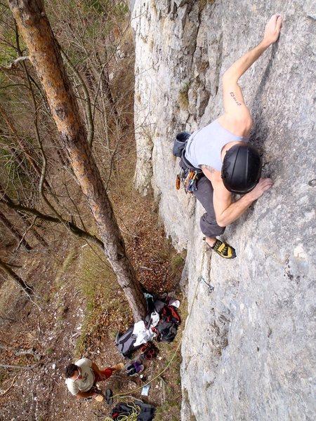 Rock Climbing Photo: hey, eyes up here!