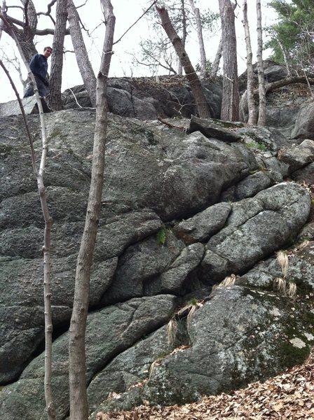 Tom's Climb, far right side
