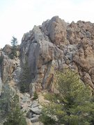 Rock Climbing Photo: A look at the back side of Sentinel; basically a w...