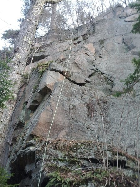 Rock Climbing Photo: From the base