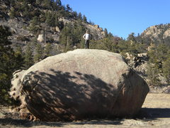 Rock Climbing Photo: Greyrock Mountain.  Scaled the boulder in meadow w...