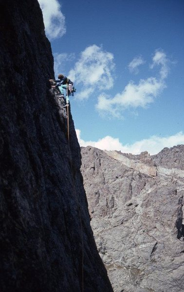 Rock Climbing Photo: Steve Porcella on the Love Route, Sept. 3, 1994.