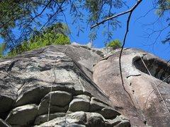 Rock Climbing Photo: Baby Tapir (leftmost finger crack through small ro...