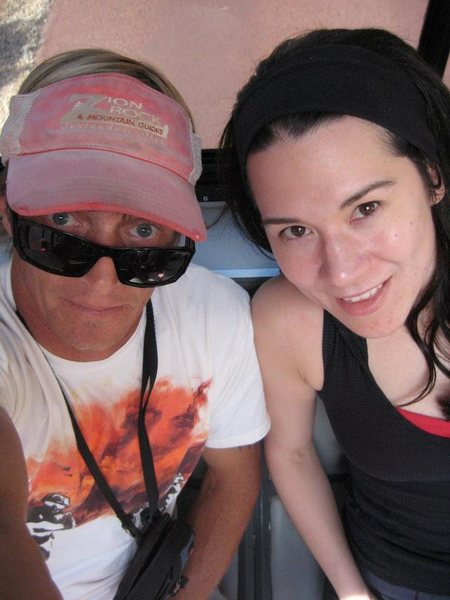 Me and longtime climbing partner, local Zionite, Dan
