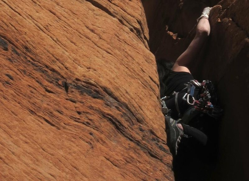 Rock Climbing Photo: almost there....The Confluence, Zion