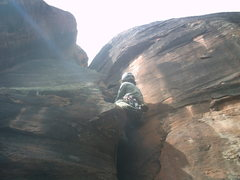 Rock Climbing Photo: 5.10 crack at 4.2 mile Crag.