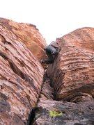 Rock Climbing Photo: It is hard not to stem across the corner on Quiet ...