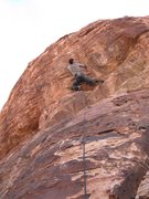 Rock Climbing Photo: Reid has his ticket in hand to start the pumpy sec...