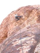 Rock Climbing Photo: Reid primed and ready to fire the crux on Prime Ti...
