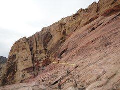 Rock Climbing Photo: Notch that begins the Black Orpheus descent.