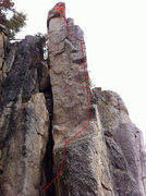 Rock Climbing Photo: Beta Photo for Rancho.