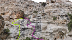 Rock Climbing Photo: Purple route in picture.