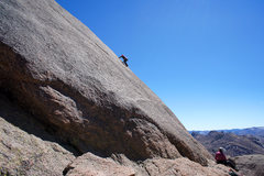 Rock Climbing Photo: Climber on Bolted Route, Velcro Wall on Sheeprock.