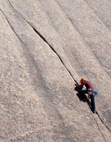 Climber on Acid Crack.