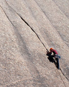 Rock Climbing Photo: Climber on Acid Crack.