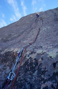 Rock Climbing Photo: Top of the crack on Charley Don't Surf. We broke t...