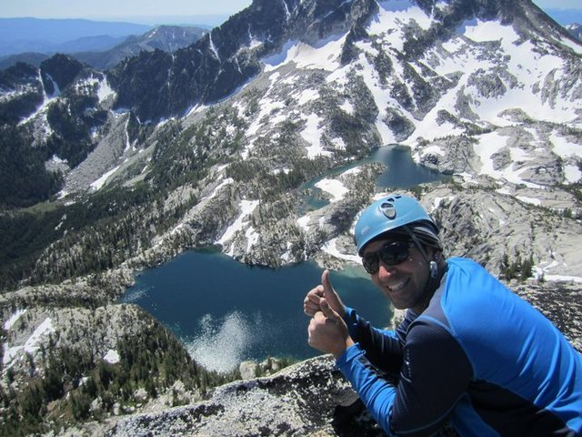 Rock Climbing Photo: On the summit of Prusik Peak