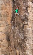 Rock Climbing Photo: Allen enjoys the small but positive crimps up high...