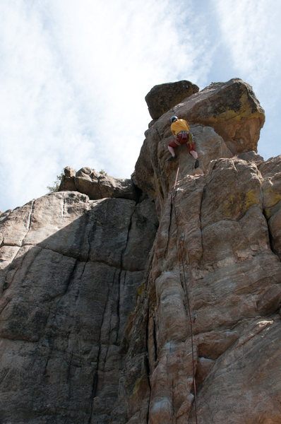 Rock Climbing Photo: The crux of the climb.