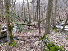 Rock Climbing Photo: Waterfall Block & creek