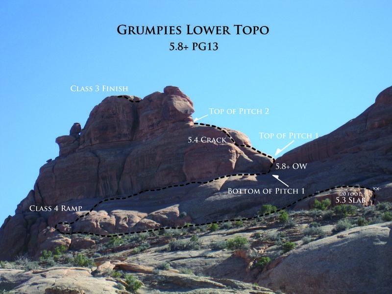 Rock Climbing Photo: Lower Topo