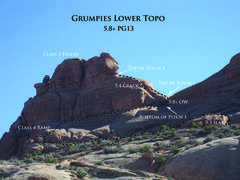 Rock Climbing Photo: Lower Topo