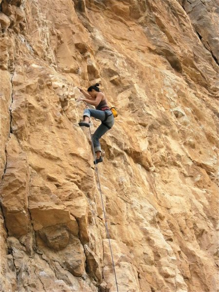 Rock Climbing Photo: Jill Hadap redeems herself.