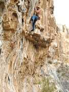 Rock Climbing Photo: Eric working the route.  Couples is in the foregro...